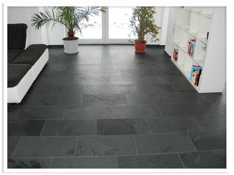 Cutting granite floor tiles